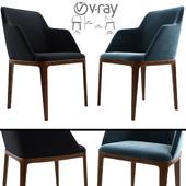 Poliform Grace Arm Dining Chair