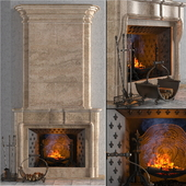 "Fireplace with accesories ""Pierfon"". Factory ""Fireplaces of Petersburg"""