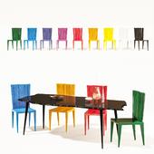 Edra Jenette Chair + Egeo Table