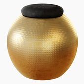Spherical Stool Black Velvet
