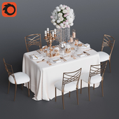 Wedding table for 6 persons 3 Corona
