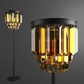 Floor lamp RH 1920S Odeon Clear Glass Floor Lamp