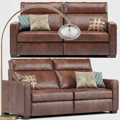 Henry Leather Recliner Sofa, Overarching Ripple Floor Lamp