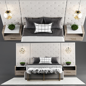 Thyne Upholstered Queen Bed With Wall Panels