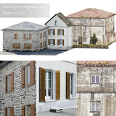 Facade for the background vol.4 Picturesque village 1