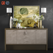 Chest of drawers Carmel Console with decor