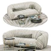 Laurameroni Drape sofa, Echo table