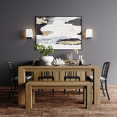 Crate & Barrel Natural Dining Collection