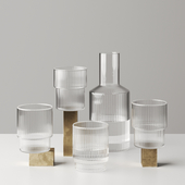 Ripple Glass and Carafe by Ferm living