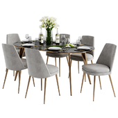 West Elm  Finley Dining Chair & Arden Dining Table