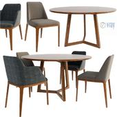 Poliform Chair Set