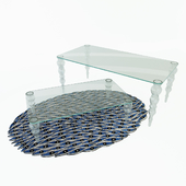 Post Modern Glas Italia Table and rug