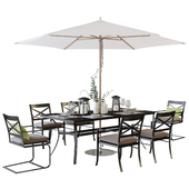 Crate and Barrel Regent Dining Set / Outdoor dining set