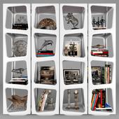 Shelf with decorative set