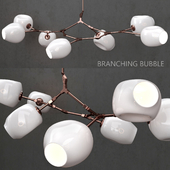 Branching bubble 7 lamps by Lindsey Adelman MILK / COPPER