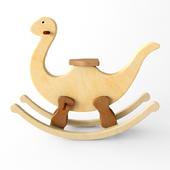 wooden rocking Dino