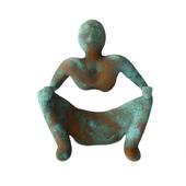 rust metal man sculpture