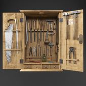 Cabinet with carpenter tools / Cabinet with carpenter tools