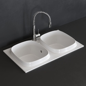 Scarabeo Ceramiche UP kitchen sink