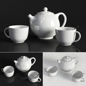 Kettle and cups