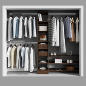 Melamine Reach-In Closet Kit in Mocha