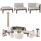 Crate and Barrel Elba sectional outdoor set / Sections of outdoor furniture