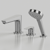 Mixer Hansgrohe Talis E 71731000 on the side of the bathtub