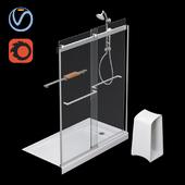 """Kit with shower door """"Levity"""" (KOHLER)"""