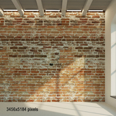 Brick wall. The old clay brick is red. 29