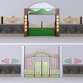 Door and fence