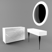Chest of drawers and dressing table Cloud from Ogogo-obstanovochka