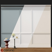 Wall molding 2. Boiserie classic panels