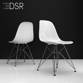 Eames DSR plastic side chairs