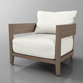 balmain teak lounge chair