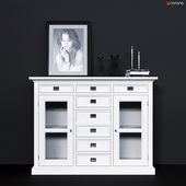 Chest of drawers with glass doors Dantone Home Oxford