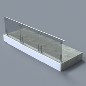Glass Handrail with short Baluster