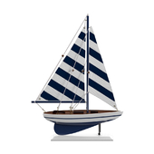 Fruitland Striped Pacific Sailer Model Yacht