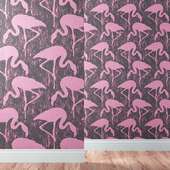 Wallpapers SANDERSON collection FLAMINGOS