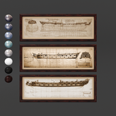 Frame drawings set