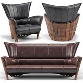 Moorea 3 Seater Sofa, Moorea  Armchair