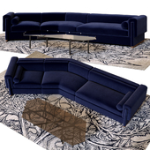 Howard sectional sofa and table