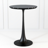 Nero Black Marble Accent Table by Crate and Barrel