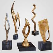 Joseph Alfred Burlini sculpture set