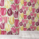 Wallpapers SANDERSON collection EARLY TULIPS
