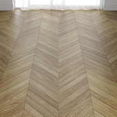 Parquet board from walnut in three types of layout