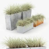 Twista Contemporary Modern Outdoor Planter Pot Grass