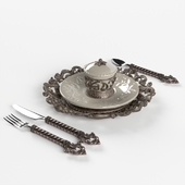 GG Collection Piece Fleur de Lis Place Setting