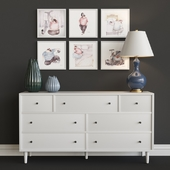 chest of drawers crate & barrel, circa lighting Table lamp Adison