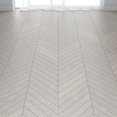 Befag Oak Natur Pearl White Lacquer Parquet Floor in 3 types