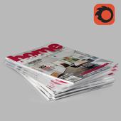 Design Magazine Stack - Corona Renderer